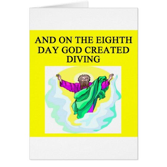 Gott schuf Tauchen Grußkarte