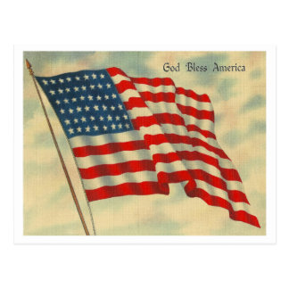 Gott segnen Amerika Postkarte