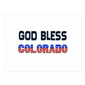 Gott segnen Colorado Postkarte