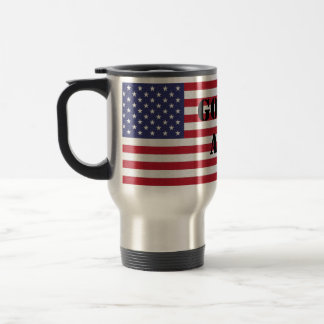 Gott segnen patriotische Flagge Amerikas USA Reisebecher