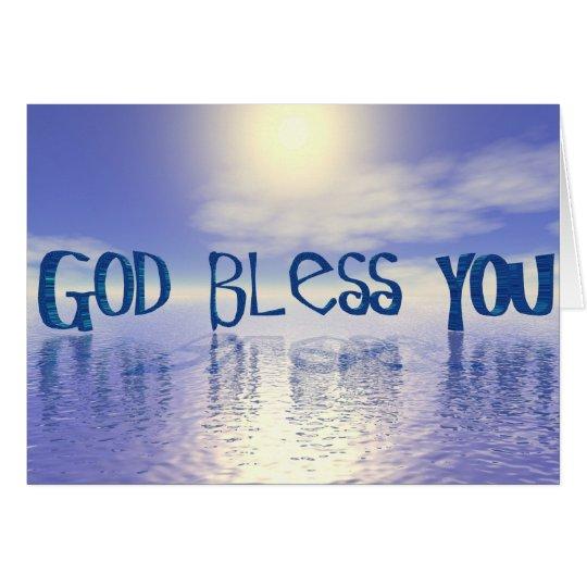 Gott segnen Sie Grußkarte