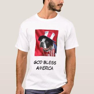 Gott segnen Terrier-T - Shirt Amerikas Boston