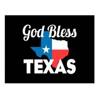 Gott segnen Texas Postkarte