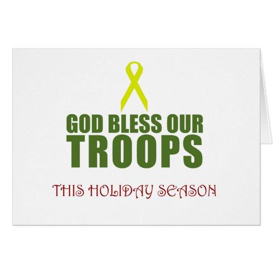 Gott segnen unsere Truppen diese Ferienzeit Grußkarte