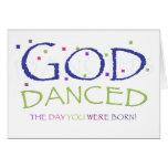 Gott tanzte leere Karte