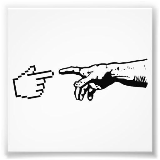 Gott und die Maschinen-Hände Kunstfoto