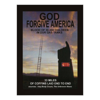 Gott verzeihen Amerika Poster