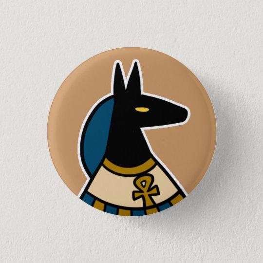 Gottheit:: Anubis Runder Button 2,5 Cm