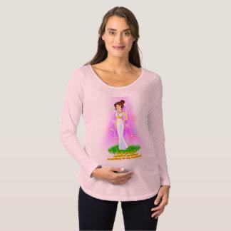 Göttin-MutterschaftsT - Shirt (Brown-Haar)