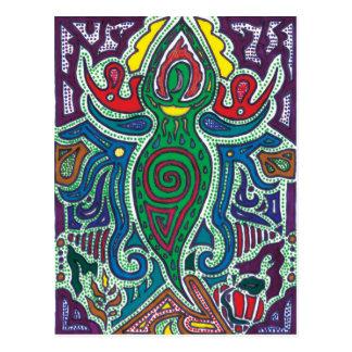 Göttin, Ruhe im Chaos Postkarte