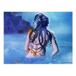 Göttin von Meer und von Nachtpostkarte Postkarte