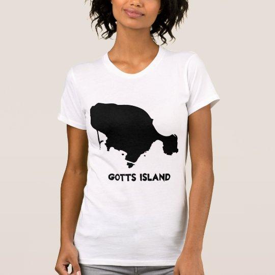 Gotts Insel-Shirt - das feste AP der schwarzen T-Shirt