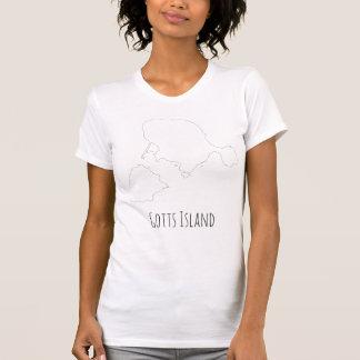 Gotts Insel-Shirt - feiner Text der Kontur T-Shirt