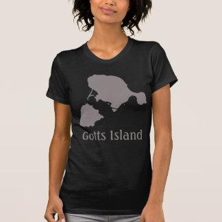 Gotts Insel-Shirt - Grau und Schwarzes T-Shirt