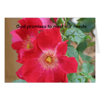 Gottversprechen, unseren Bedarf zu erfüllen Karte