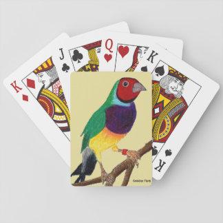 ~ Gouldian Fink ~ ursprüngliches Kunst ~ Spielkarten