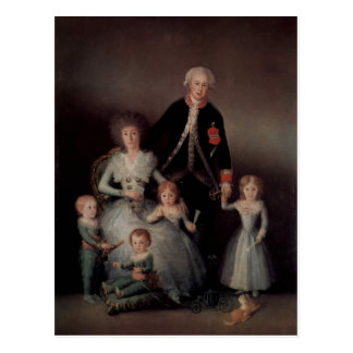 Goya y Lucientes, Francisco de Portr? t der Famili Postkarte