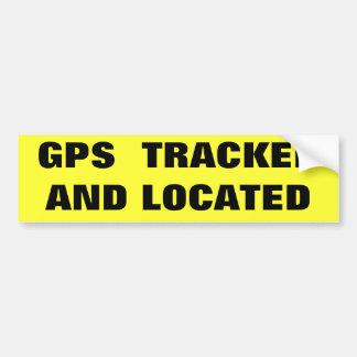 GPS SPÜRTE AUF UND FAND AUTOAUFKLEBER