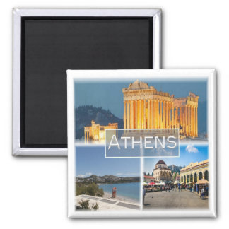 GR * Griechenland - Athen Quadratischer Magnet