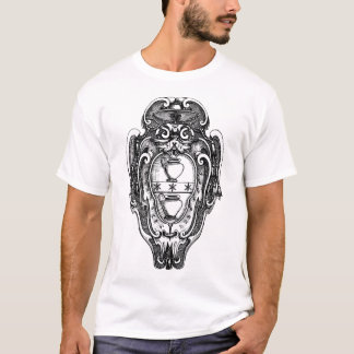Grab-Emblem-Schwarzes T-Shirt