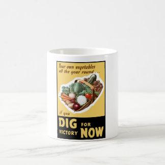 Grabung für Sieg jetzt -- WW2 Kaffeetasse