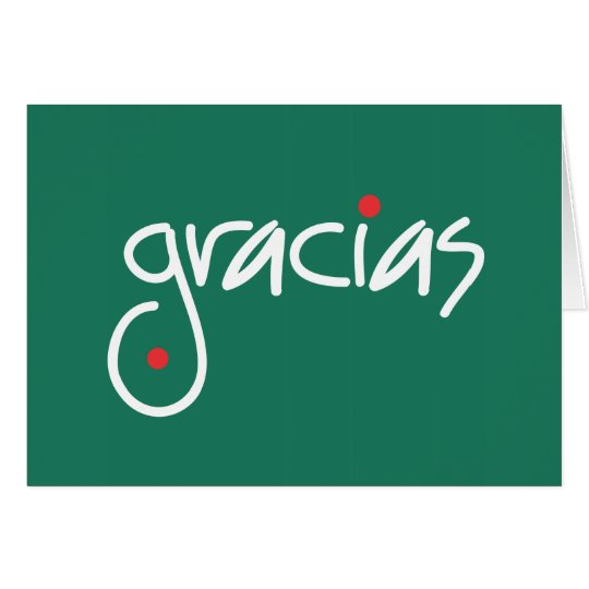 Gracias Weihnachten danken Ihnen in jeder Grußkarte