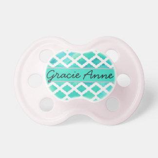 """""""Gracie Anne"""" personalisierter Name Schnuller"""