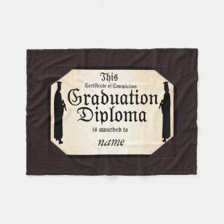Graduiertes stehendes hohes Diplom Fleecedecke