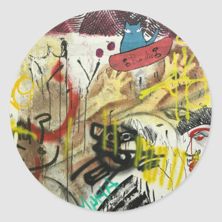 Graffiti-Aufkleber Runder Aufkleber