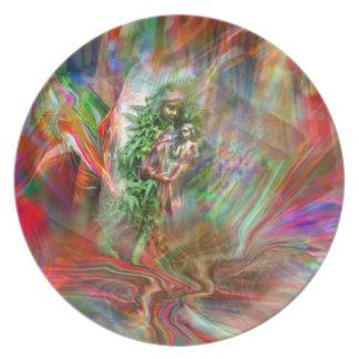 Graffiti Madonna Plate Teller