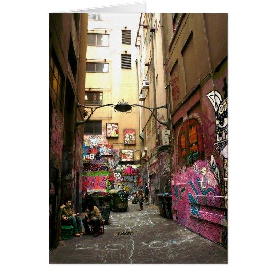Graffitiweg, Melbourne Karte
