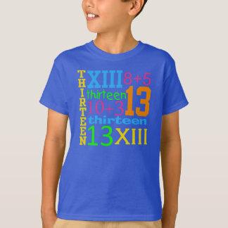 GRAFIK 13. Geburtstag T-STÜCK Spaß NEON-13 T-Shirt