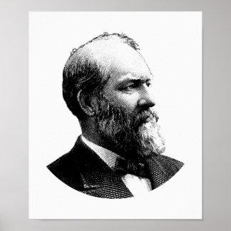 Grafik Präsidenten-James Garfield Poster