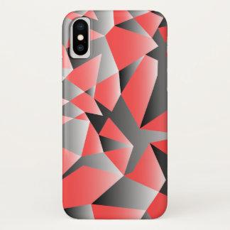 Grafik zerbrochener Geometrie-Beschaffenheit iPhone X Hülle