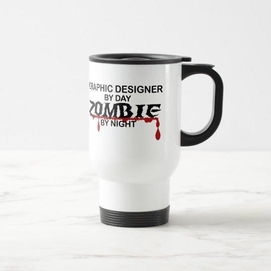 Grafikdesigner-Zombie Edelstahl Thermotasse