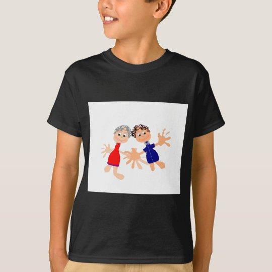 Grafische Charaters Schablone - fertigen Sie Text T-Shirt