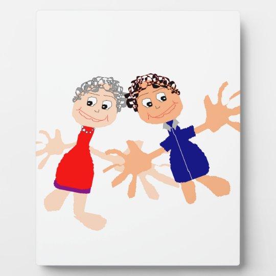 Grafische Kunst - zwei Freunde Fotoplatte