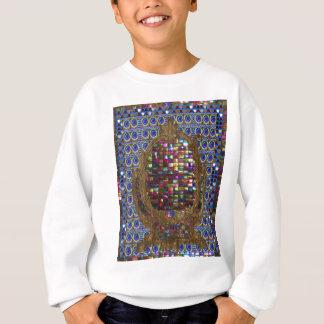 Grafische Malerei-Kristallstein-Fliesen Sweatshirt