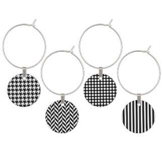 Grafische Schwarzweiss-Muster Glasmarker