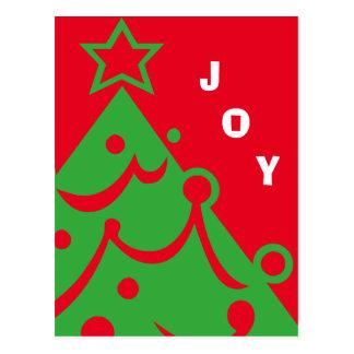 Grafische Weihnachtsbaum-Freude Postkarte