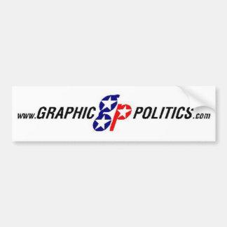 Grafischer Politik-Autoaufkleber
