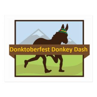 Grafischer w Hut des Donktoberfest Esel-Schlages Postkarte
