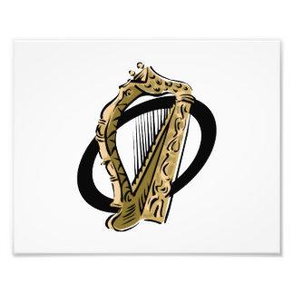 Grafisches Schwarzes ring.png der verzierten Harfe Kunstfoto