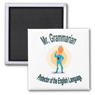 Grammatik-Fanatiker-Superheld Quadratischer Magnet