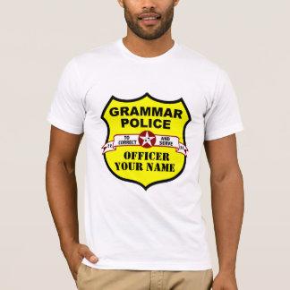 Grammatik-Polizei-kundengerechtes T-Stück T-Shirt