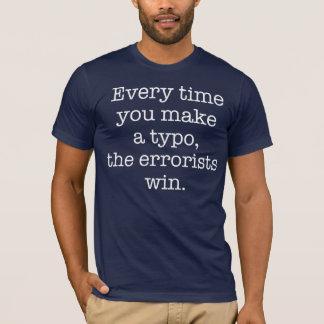 Grammatik-Polizeilustiges Typo-Dunkelheits-T-Stück T-Shirt