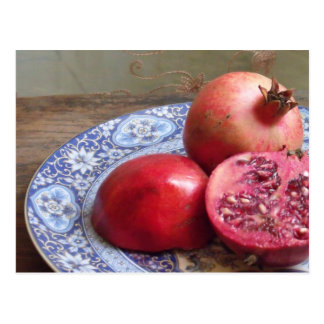 Granatapfel-Frucht-Stillleben Postkarte