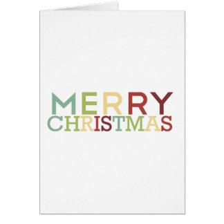 Granatapfel-Tinte - frohe Weihnachten Mehrfarben Karte