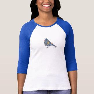 Granatapfel-Vintage Vogel-mit Blumenkunst Williams T-Shirt