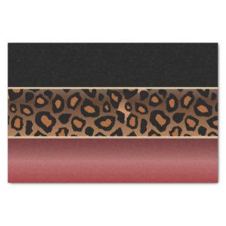Granats-Rot, Schwarzes und Jaguar-Druck Seidenpapier